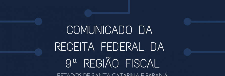 COMUNICADO DA RECEITA FEDERAL